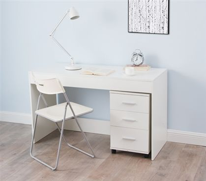 Yak About It Simple Style Work Desk Includes 3 Drawer Unit