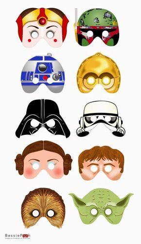 Máscaras de Star Wars para Imprimir Gratis. | festa lego star Wars ...