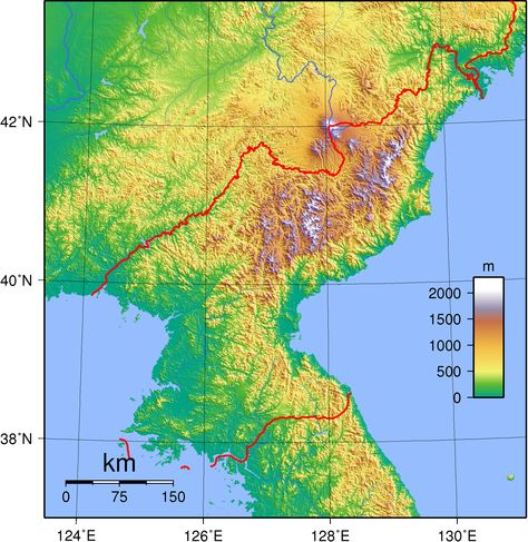 A map of North Korea East Asia Pinterest North korea, Korea - best of world map at night korean