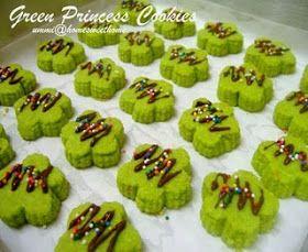 Home Sweet Home Green Princess Cookies Resep Biskuit Kue Kering Resep Kue
