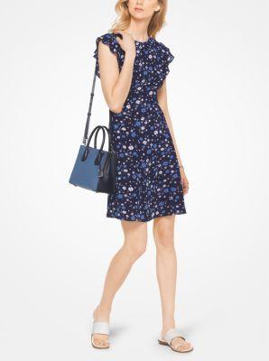 e55a9065352 MICHAEL MICHAEL KORS Floral Crepe Flounce-Sleeve Dress.  michaelmichaelkors   cloth