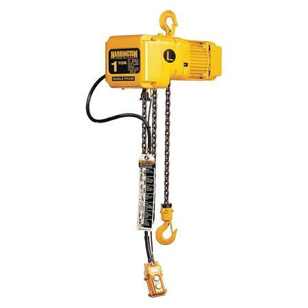 Harrington Sner010l 15 2 469 99 Electric Chain Hoist 2 000 Lb 15 Ft Hook Mounted No Trolley In 2020 Hoist Thermal Protectant Electric Hoists