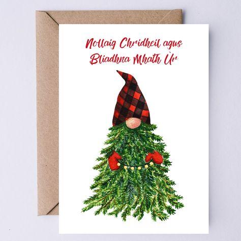 Nollaig Chridheil agus Bliadhna Mhath Ùr   Scottish Gaelic Merry Christmas & Happy New Year Printable Card   Scotland Lover Instant Download
