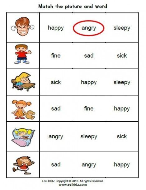 Feelings Activity Worksheets Feelings Activities, Emotions Preschool,  Kindergarten Worksheets Printable