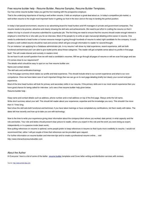 letter resume builder free vanezaco sitesg best site military - e resume builder