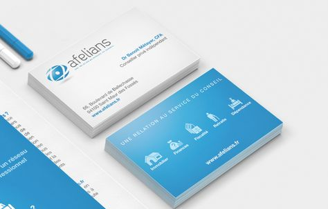 Creation Des Cartes De Visite Identite Visuelle Logo