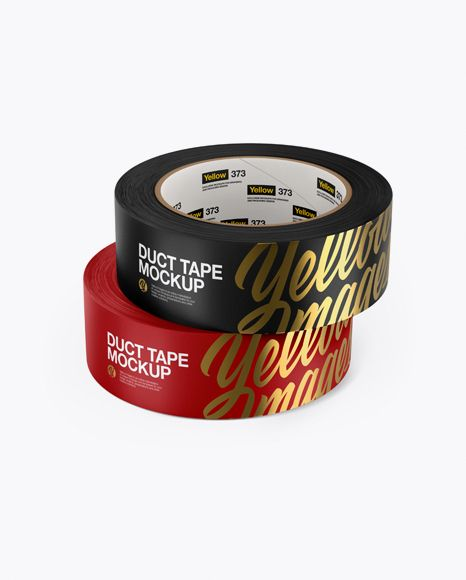 Download Two Matte Duct Tape Rolls Psd Mockup High Angle Shottemplate Mockup Free Psd Psd Mockup Template Mockup Psd