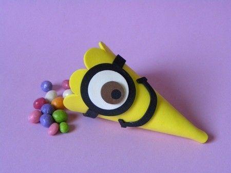 Cone para Doces Meu Malvado Favorito Minions www.petilola.com.br
