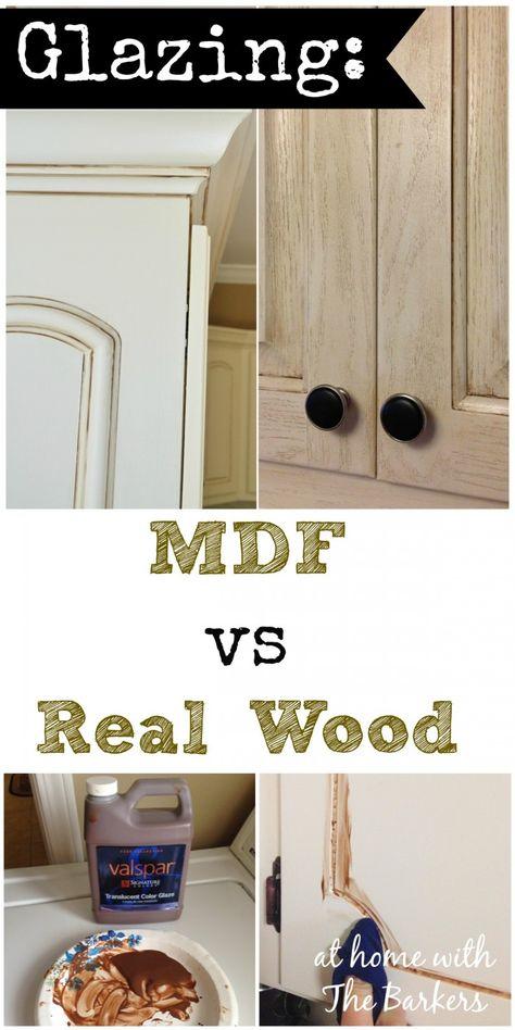 Glazing MDF vs/ Real Wood