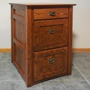 Mission Style Two Drawer Lateral File Cabinet Filing Cabinet