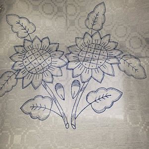 Diamante Camino 150x45cm Manta Blanca Para Bordar Esquemas Etsy Hawaiian Quilt Patterns Embroidery Flowers Pattern Flower Art Drawing
