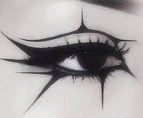 witch aesthetic makeup Eye liner Makeup inspiration face paint tribal gothic geometric starburst pattern G O D G A V E Punk Makeup, Edgy Makeup, Grunge Makeup, Eye Makeup Art, Gothic Makeup, Makeup Inspo, Makeup Inspiration, Beauty Makeup, Makeup Style