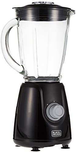 Black Decker 400w Blender With Glass Jar And 2 Grinding Mill