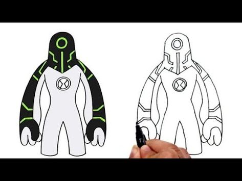 How To Draw Ben10 Upgrade Step By Step رسم ابجريد خطوة بخطوة رسم بن تن Youtube Ben 10 Drawings 10 Things