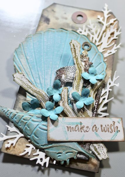 A Seashell Tag Featuring The Sea Breeze Collection Seashell Crafts Tag Art Sea Shells