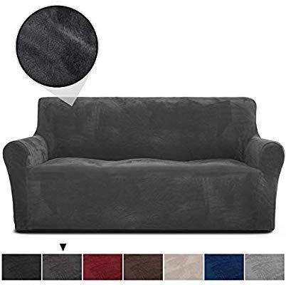 Amazon Com Rhf Velvet Sofa Slipcover Stretch Couch Covers For 3 Cushion Couch Couch Covers For Sofa Sofa Covers For Living Room Couch Covers For Dogs Sofa Sl Di 2020