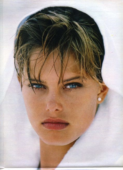 Renée Toft Simonsen from italian Amica July 1984 by Gilles Bensimon
