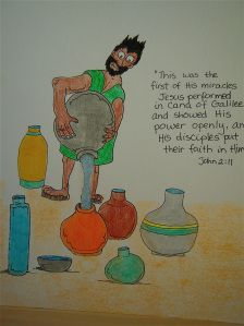 Jesus turns the water into wine activity sheet