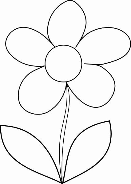 Flower Coloring Pages Simple Fresh Simple Flower Coloring Page For Kids Free Printable P In 2020 Printable Flower Coloring Pages Flower Printable Flower Coloring Pages