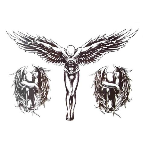 Oottati Cross The Wings Of Jesus Black Holographic Sketch Arm Temporary Tattoo >>> You can find out more details at the link of the image. (This is an affiliate link)