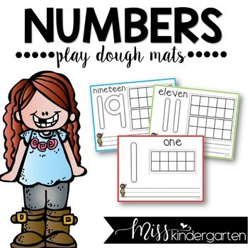 Playdough Mats Numbers 1 20 In 2020 Kindergarten Math Activities Number Sense Activities Mini Lessons