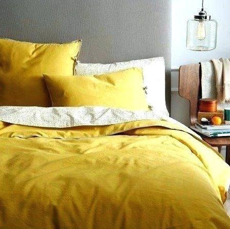 Gelbe Bettwaschesets Bett Modern Gelbes Schlafzimmer Haus Deko