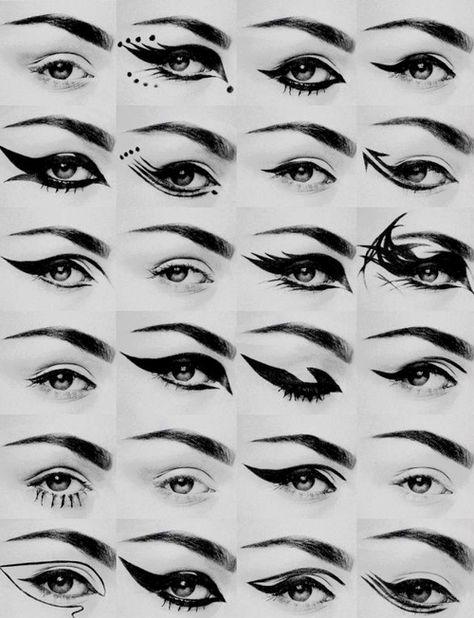 Cool eyeliner designs for school, work, or your own biddings - 24 different kind. - Cool eyeliner designs for school, work, or your own biddings – 24 different kinds of eyeliner for - Goth Eye Makeup, Makeup Art, Hair Makeup, Asian Makeup, Korean Makeup, Pastel Goth Makeup, Punk Makeup, Makeup Geek, Cute Emo Makeup