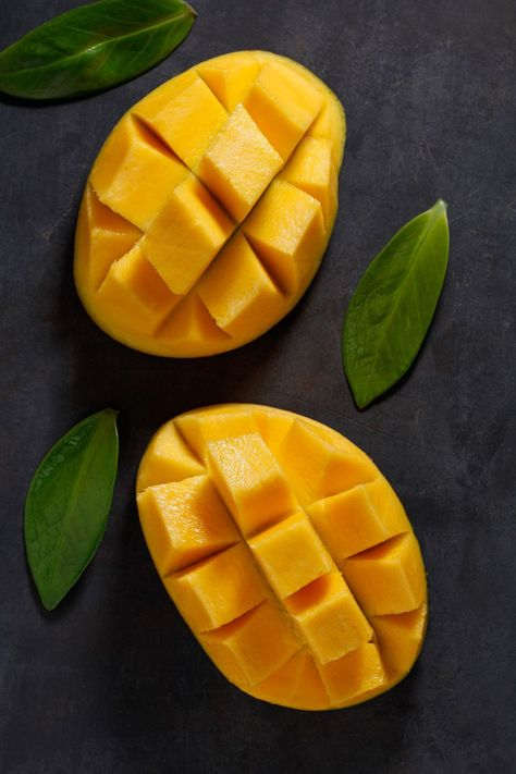 High Angle View Of Mango On Table