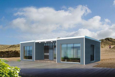 BAÜHU Maison ossature métallique légère modulaire en kit ECO \ DIY - plan maison structure metallique