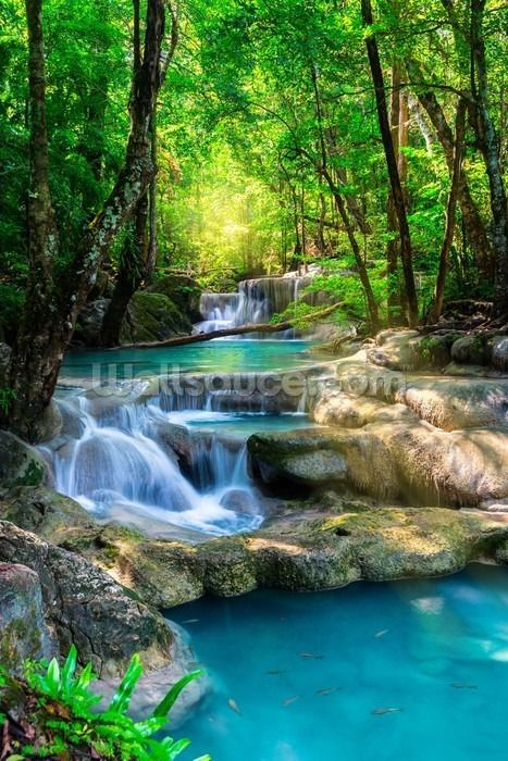 Peaceful Waterfall Wallpaper Wallsauce Us In 2020 Waterfall Wallpaper Beautiful Nature Nature Photography