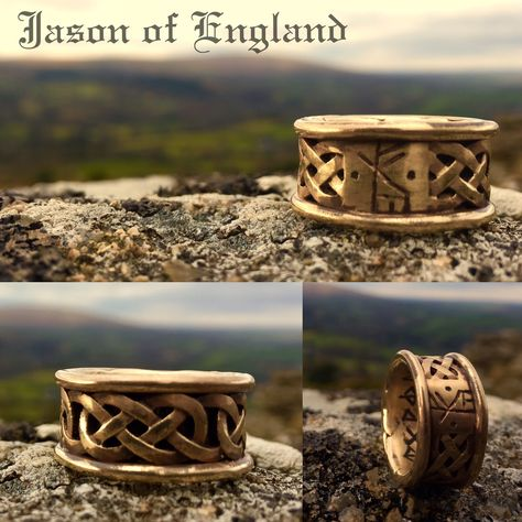 gold Gold knotwork Rune~ring with...