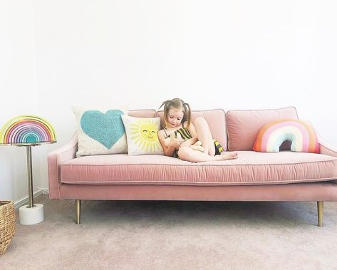 Mirage Blush Pink Sofa In 2020 Pink Sofa Bed Sofa Pink Couch