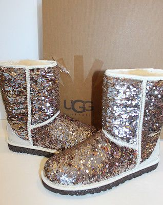 db22cd16f961 UGG Classic Short Sparkles Champagne Sequins Beige Womens Sizes 5 -11 on  shopstyle.com
