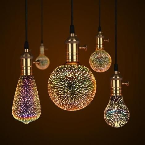 Galaxy Light Bulb Galaxy Lights Night Light Bulbs Glass Pendant Lamp