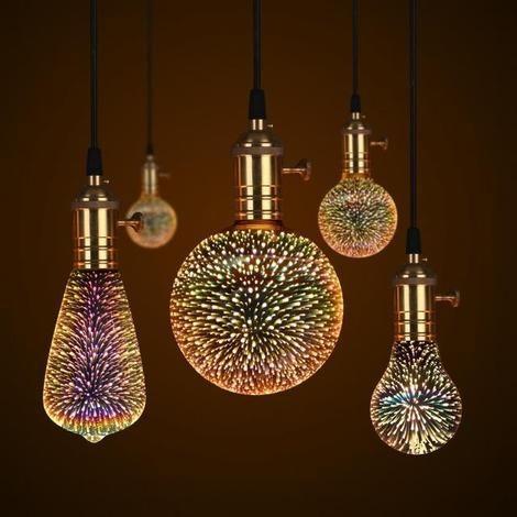 Galaxy Light Bulb Galaxy Lights Night Light Bulbs Glass Pendant Lamp