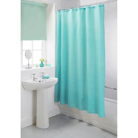 Aqua Blue Bathroom Accessories In 2020 Light Blue Curtains