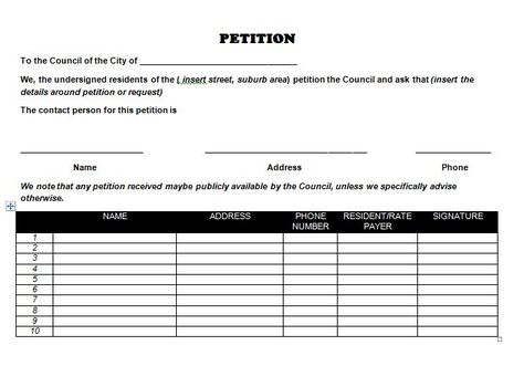Petition template 27 Activism Pinterest - how to write petition guide