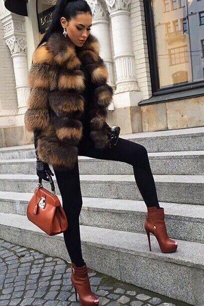 Fashion Warm Faux Fur Coat Women Casual Winter Jackets