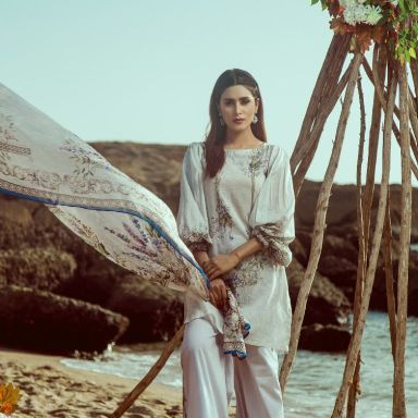 Buy White Dress By Zellbury Mid Summer Collection 2018 Online Or Local Stores Featuring Casual Lawn Shirt Cambric Trouser And Chiffon Dupatta Buy White Dress Summer Collection White Dress