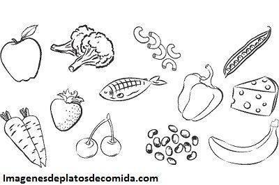 Cuatro Fotos Con Dibujos De Comidas Saludables Para Colorear Paperblog Dibujos De Comida Saludable Colorante Alimentario Comidas Saludables Para Ninos