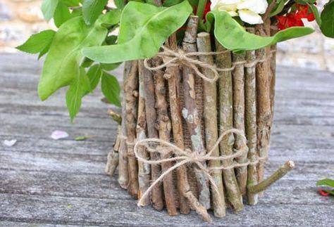 Doniczka Diy Z Drewna Inspiracja Na Wiosenna Dekoracje Co Zrobic Z Patyczkow Diy Flower Pots Flower Pots Twig Crafts
