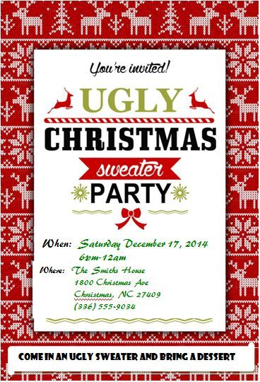 Pin On Ugly Sweater Christmas Party