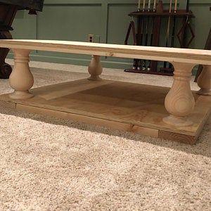Knotty Pine Balustrade Legs 5 X 10 Coffee Table Legs Set Of