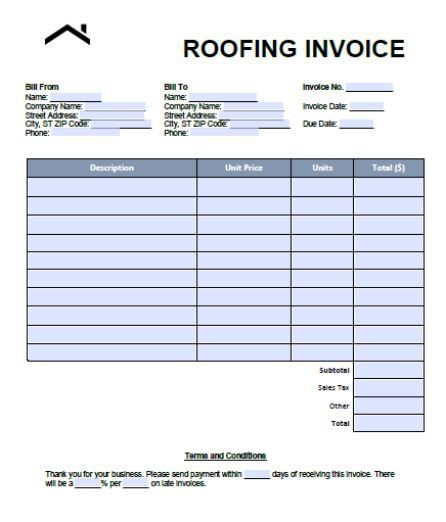 Roofing Estimate Form 7 Examples And Samples In Word Pdf Format
