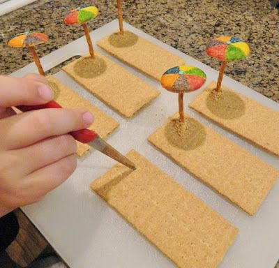 Teddy Bear Beach Party Treats Snacks Including A Free Printable