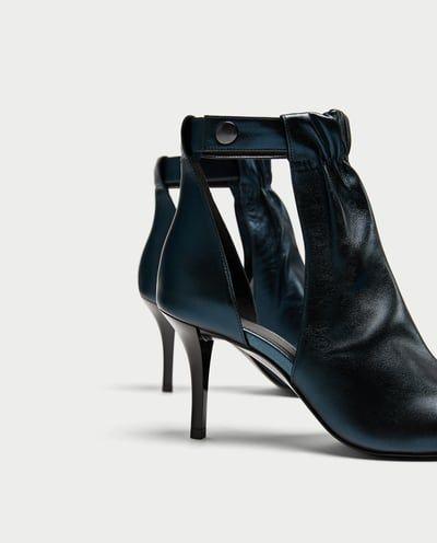 Und Absatz Mit Damen Schlitzen Lederstiefelette Sale Schuhe trdxshQC