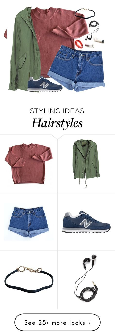 """""""I wanna dye my hair blue"""" by whitegirlsets on Polyvore featuring Levi's, Mr & Mrs Italy, New Balance, Prada and DEOS"""