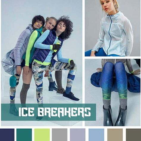 color report on Contemporary Activewear Mood: Ice Breakers. Source by annawoloshko color report on Contemporary Activewear Mood: Ice Breakers. Source by annawoloshko trends FW 18 AC 1 Mood - Ice Breakers Minicool Kids SS 2019 +USB