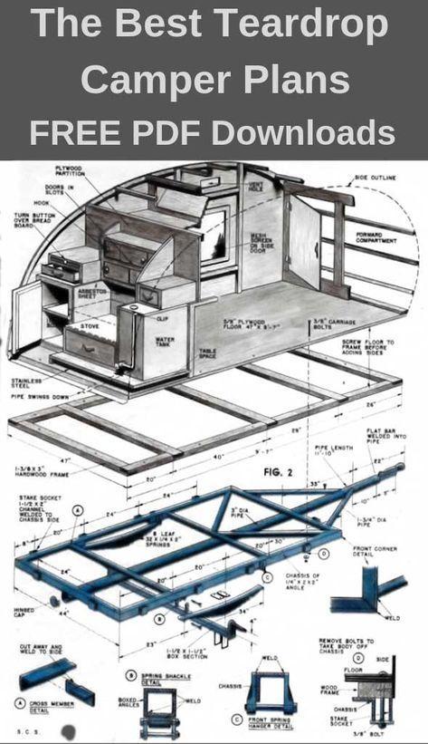 teardrop camper plans \u2013 11 free diy trailer designs (pdf downloads 3D Schematic Diagram teardrop camper plans \u2013 11 free diy trailer designs (pdf downloads)