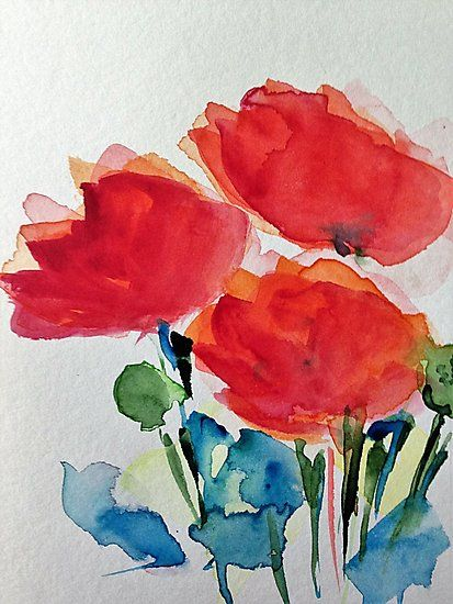Aquarell Mohnblumen Fotodruck In 2019 Projects To Try Wild